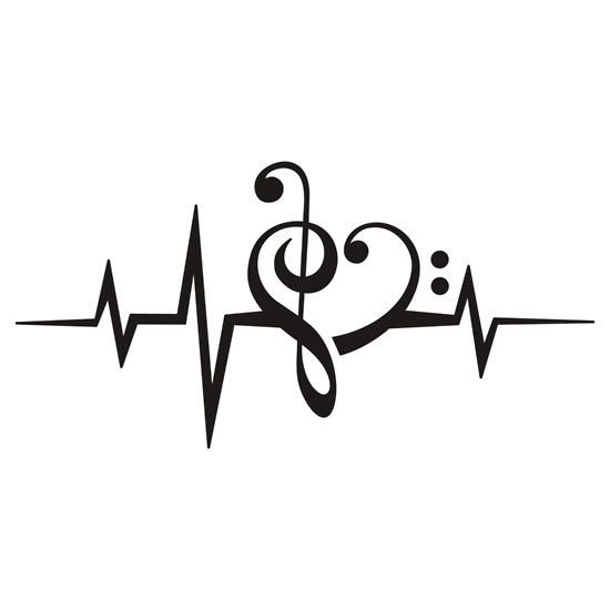music heart pulse love music bass clef treble clef classic dance electro sticker by. Black Bedroom Furniture Sets. Home Design Ideas