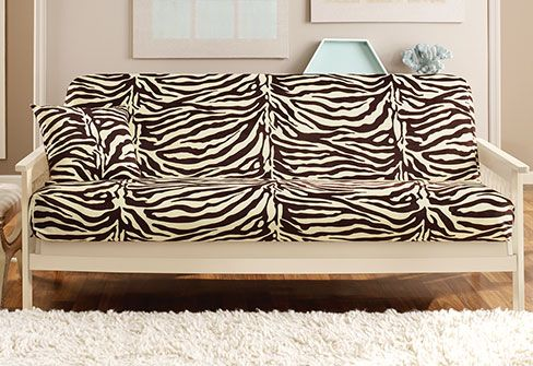 Velvet Zebra Futon Cover Renew Your Dated Futon With A