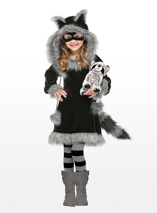 Details zu Kleiner Waschbär Kinder Tier Kostüm mit Maske Schwanz ...