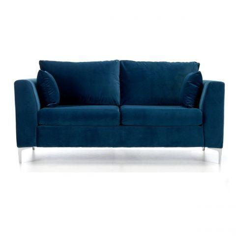 Jane 2 Seater Sofa in Blue Velvet - Casafina