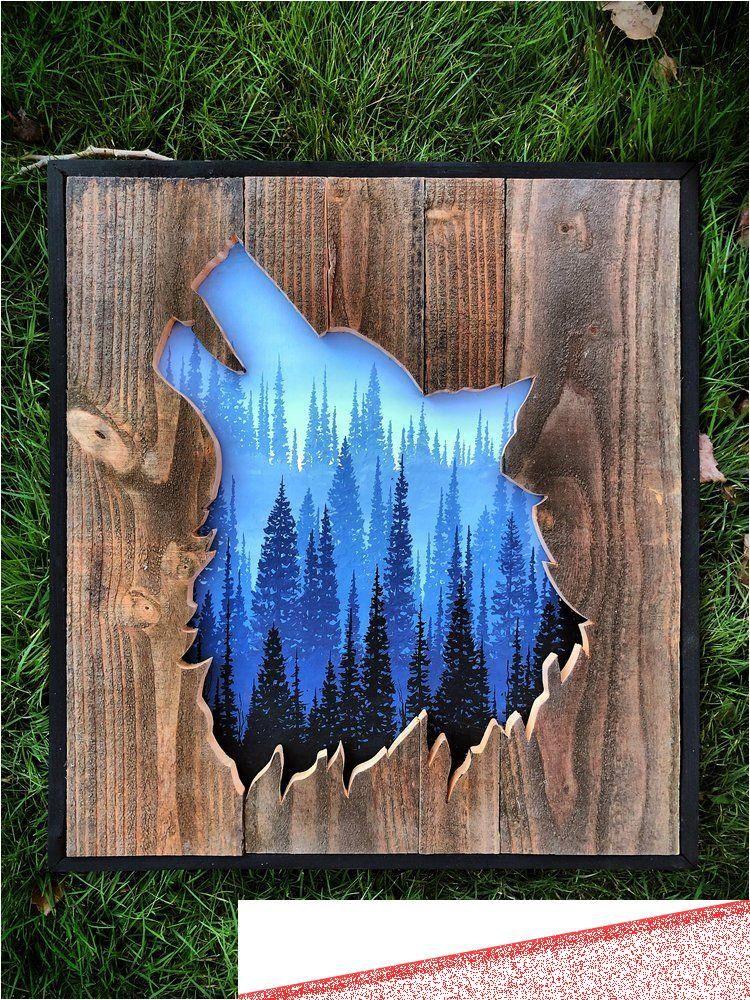Selbermachen Wood Wood Art Diy Rustic Art Pallet Art