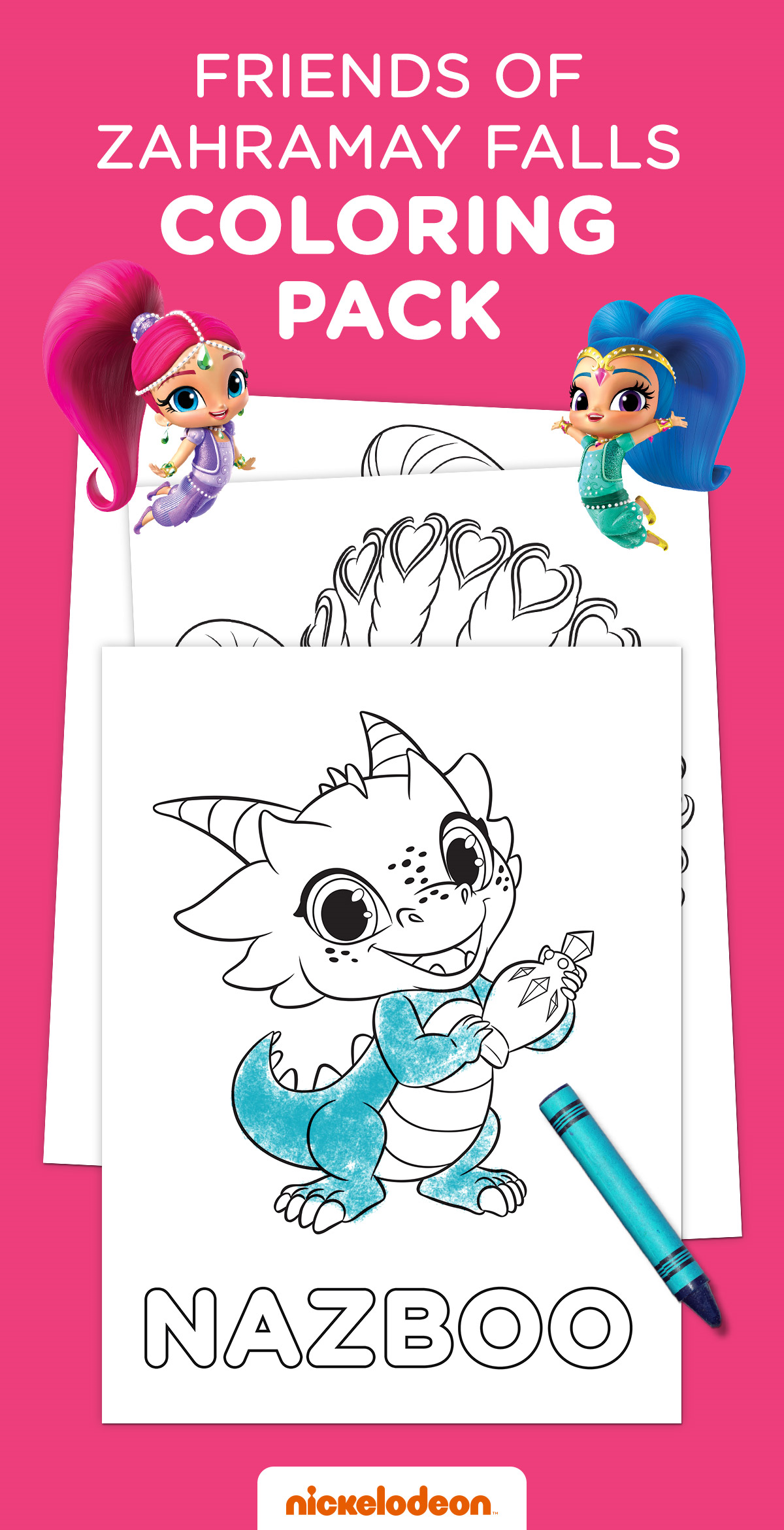 Printable coloring pages shimmer and shine - New Friends Of Zahramay Falls Coloring Pack Shimmer E Shine