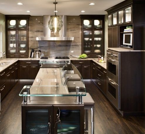 Leo Designs Chicago Earthy Chic Gallery Stained Kitchen