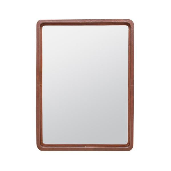 The retro mirror has a full grain tobacco leather with contrast stitching and rounded corners to complete the look. Hang in the home for ultimate sophistication.