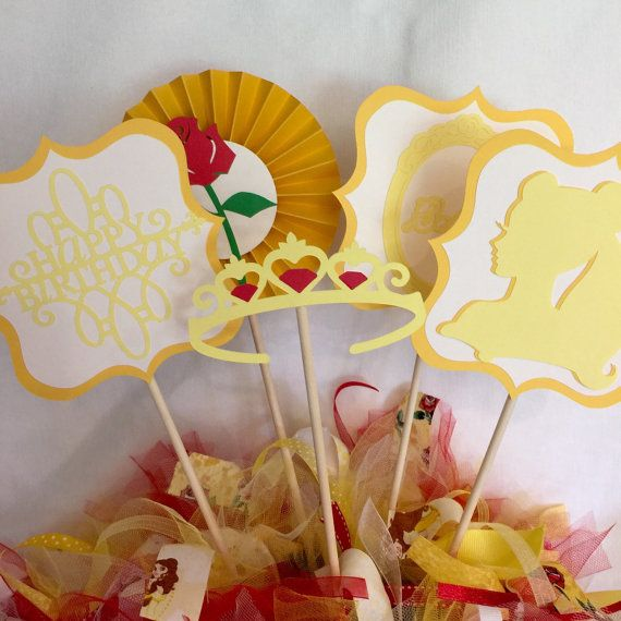 Belle Birthday Party Decorations Beauty And The Beast Birthday Party Princessheartfeltparty