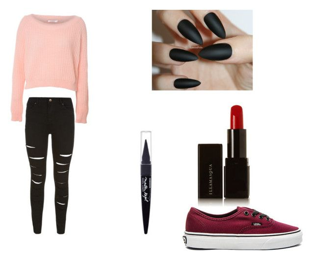 """""""Untitled #182"""" by bandobsessed4eveer ❤ liked on Polyvore featuring Vans, Glamorous, Maybelline and Illamasqua"""