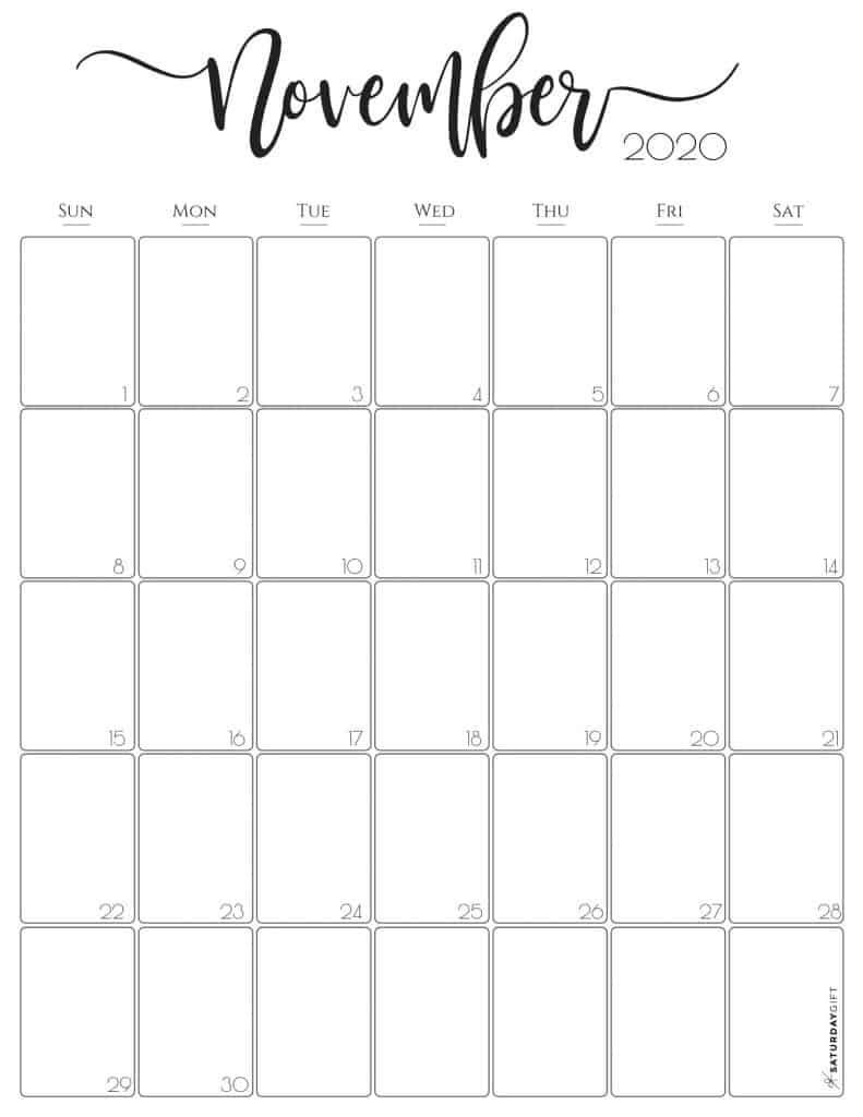 Free Printable November 2020 Calendars For Usa Updated In 2020