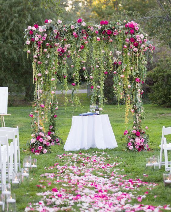 Wedding Ceremony Inspiration Bohemian Wedding Backyard