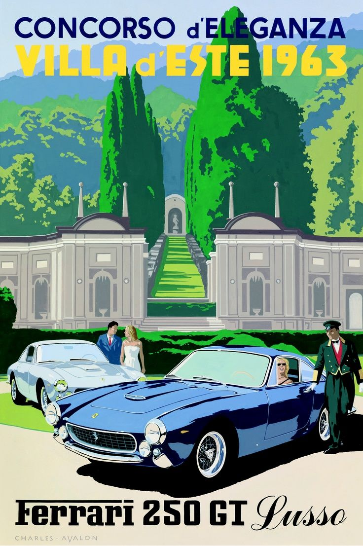 Vintage Ferrari Poster Google Search アールデコポスター 車の絵 車 イラスト