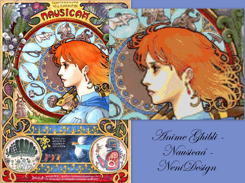 Anime Ghibli Nausicaá cross stitch pattern PDF
