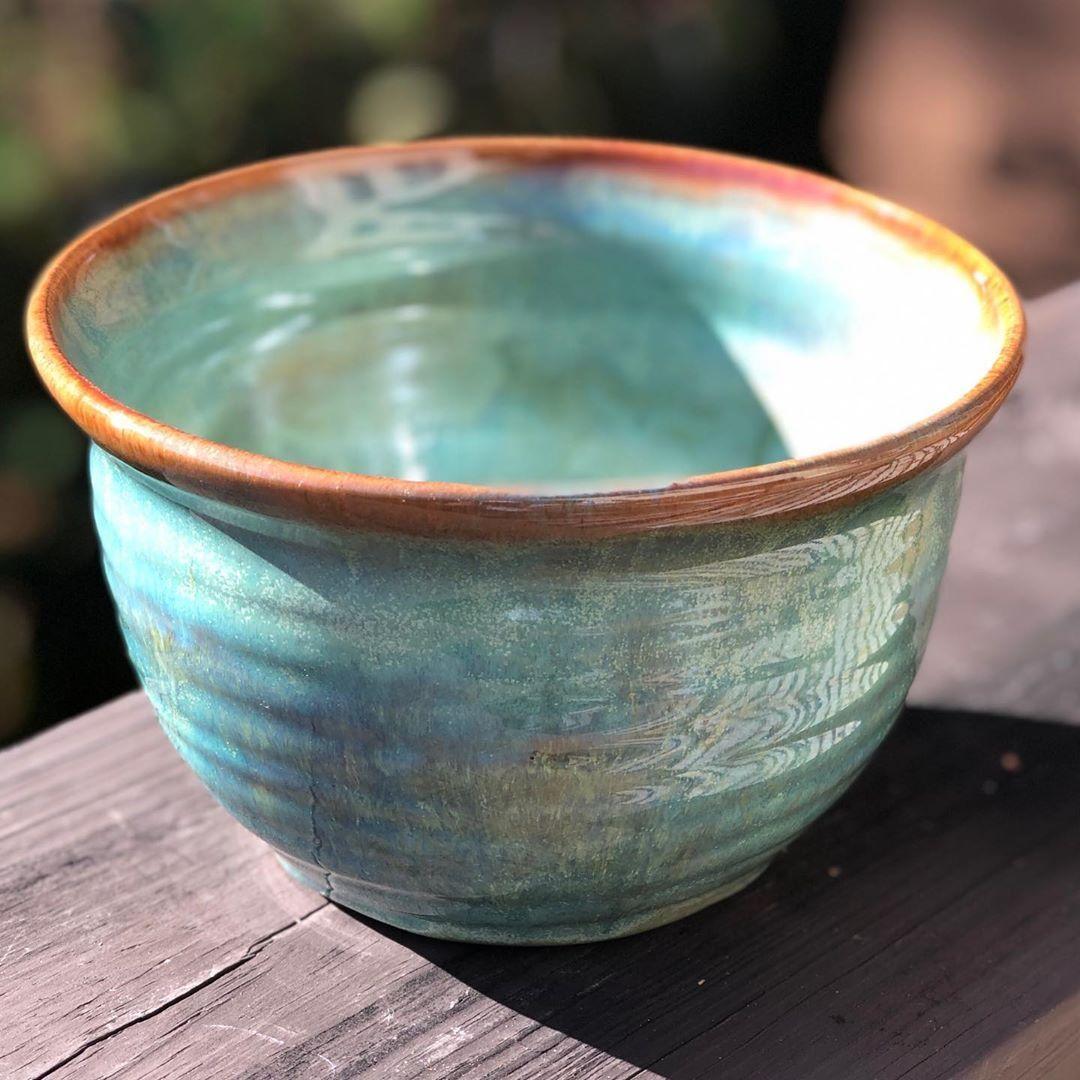 "Terrapin Studios LLC on Instagram: ""3x Albany Slip under 3x Lustrous Jade"" #potteryclasses"