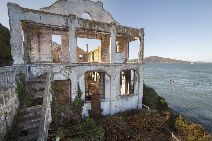 The abandoned warden's house on Alcatraz Island