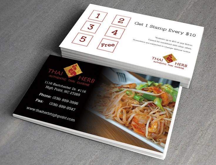 Thai Restaurant Business Cards Design Www Inprintla Net With