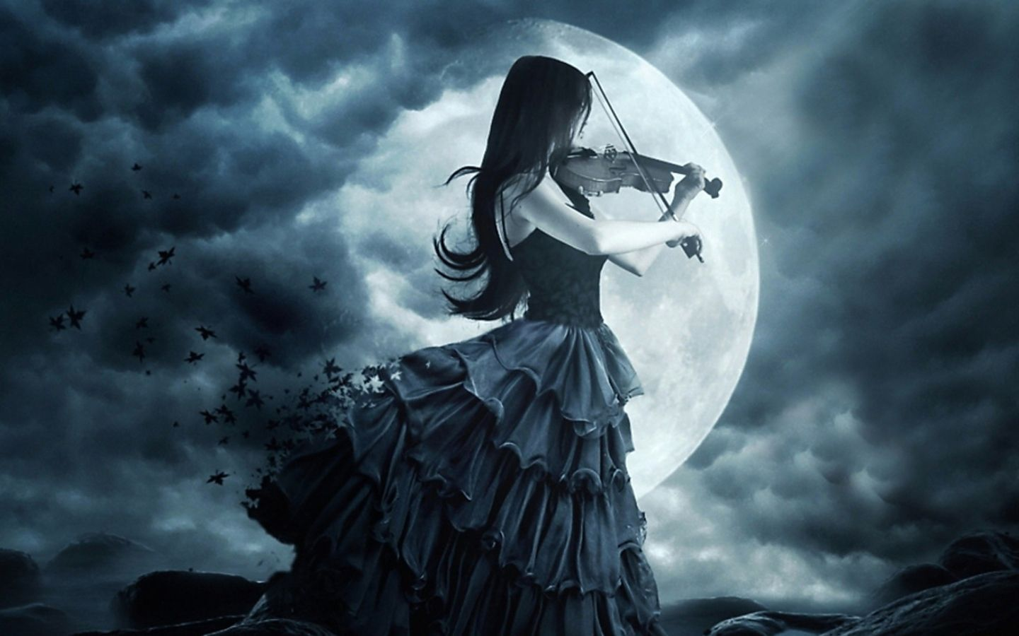 Dark Gothic Moon Alpha Coders Wallpaper Abyss Everything Gothic Dark Gothic 322280 Gothic Wallpaper Gothic Music Girl Playing Violin