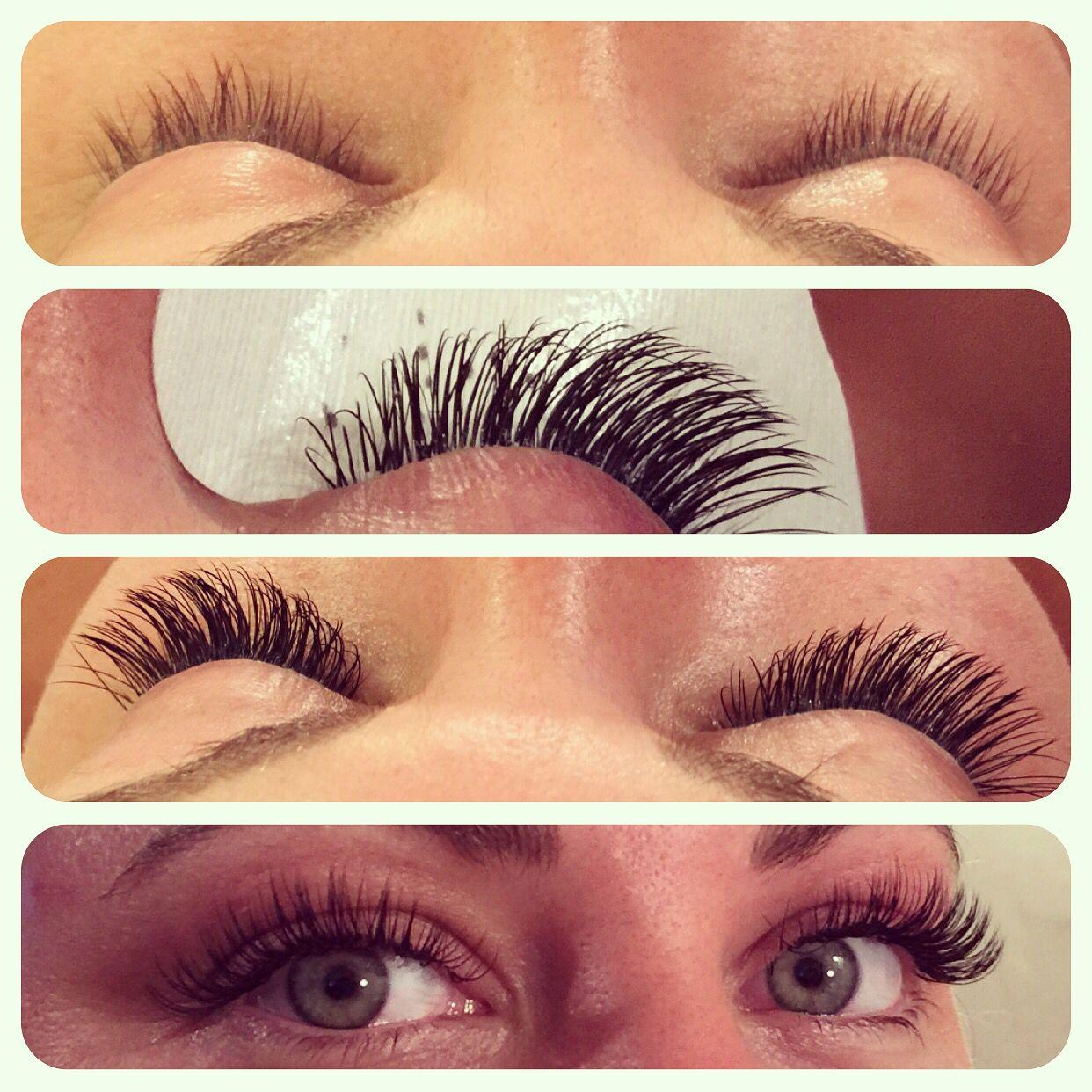 Mink eyelash extensions D curl semi permanent eyelash extensions ...