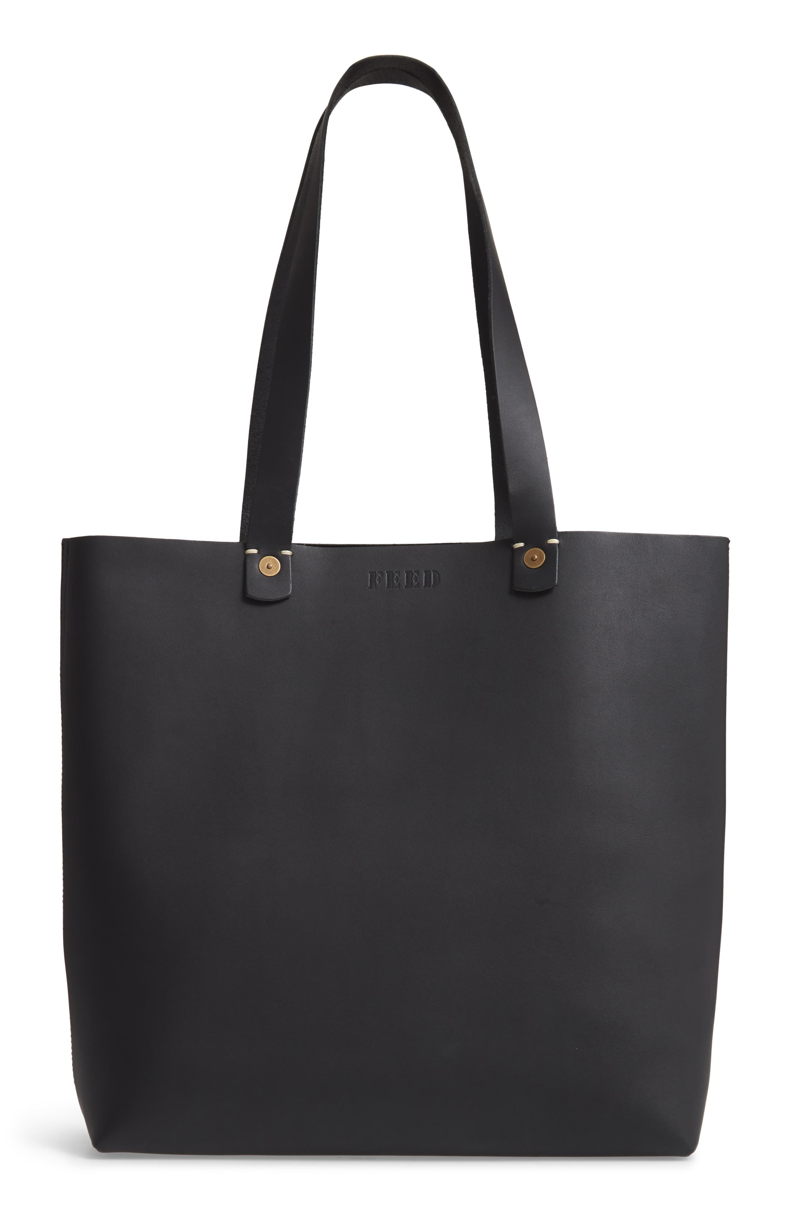 FEED Harriet Leather Tote | Leather, Vegetable tanned