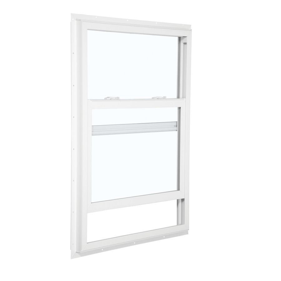 Reliabilt 105 Series 35 5 In X 71 5 In Vinyl Egress New Construction White Single Hung Window Lowes Com Single Hung Windows Window Fitting Window Installation