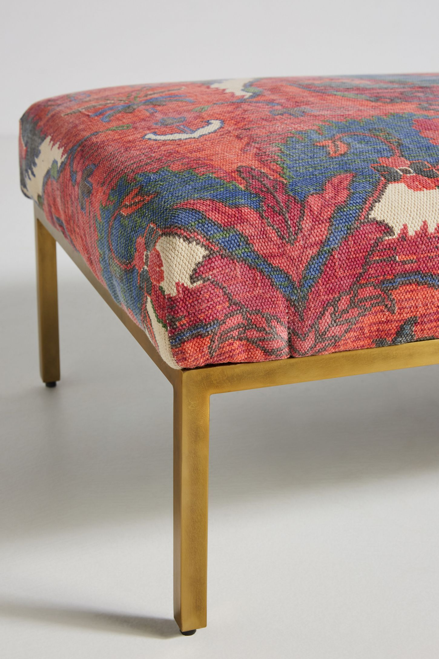 Awesome Rug Printed Ottoman In 2019 Anthropologie Rug Ottoman Caraccident5 Cool Chair Designs And Ideas Caraccident5Info