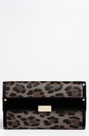 b44196e9bba8 Jimmy Choo 'Reese - Extra Large' Leopard Print Calf Hair Clutch available  at #Nordstrom