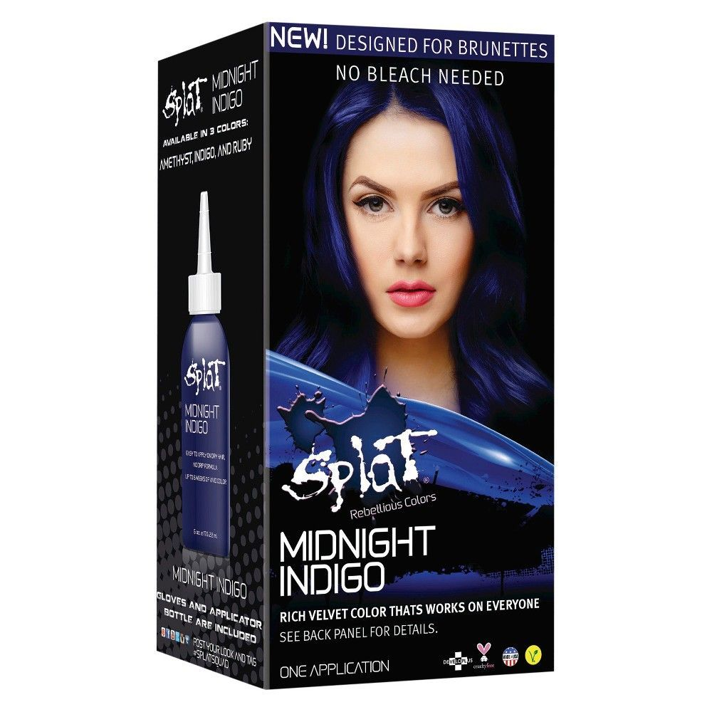 Splat Midnight Hair Color Indigo 6 0 Fl Oz Indigo Hair Midnight Hair Splat Midnight Hair Color