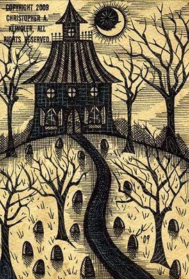 Hallowe'en illustration by Chris Klingler of Designs by CK