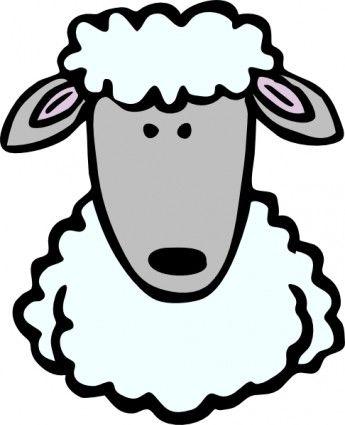45+ Cute Sheep Head Clipart