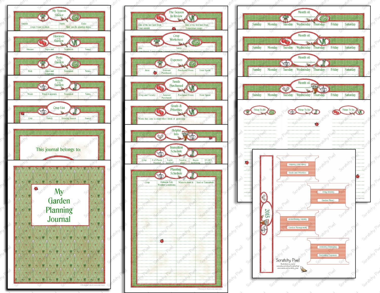 Printable Garden Planning Journal By Scratchypixel
