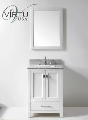 Photo of GS-50024-WMSQ-WH Transitional 24 Single Sink Bathroom Vanity Set – hangiulkeninmali.com/decor
