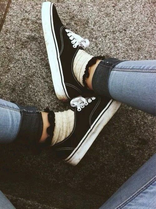 Love the ruffle socks with vans and