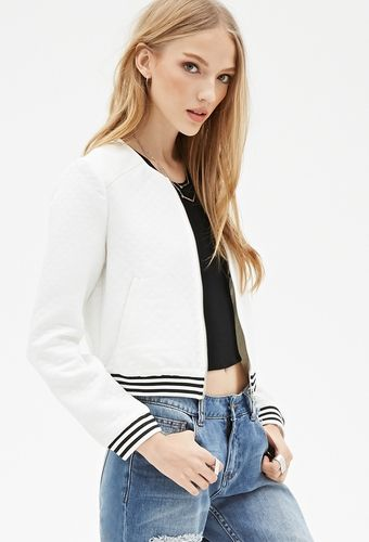 Quilted Bomber Jacket from FOREVER 21 on Catalog Spree