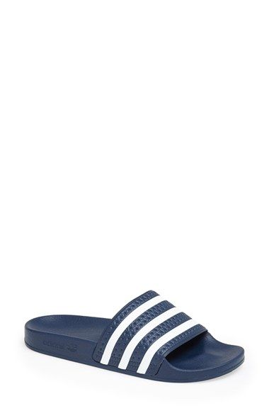 huge discount 3cfc5 252d7 Free shipping and returns on adidas  Adilette  Slide Sandal (Women) at  Nordstrom.com. An everyday slide sandal features a wide single strap and a  ...