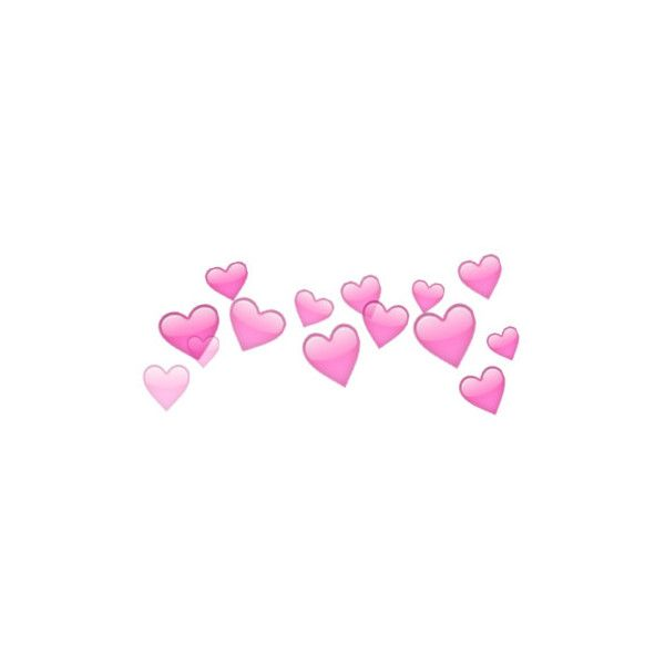 Hearts Png Liked On Polyvore Featuring Fillers Extra Emojis Fillers Pink Backgrounds Text Embellishment Detail Tumblr Png Film Texture Heart Emoji