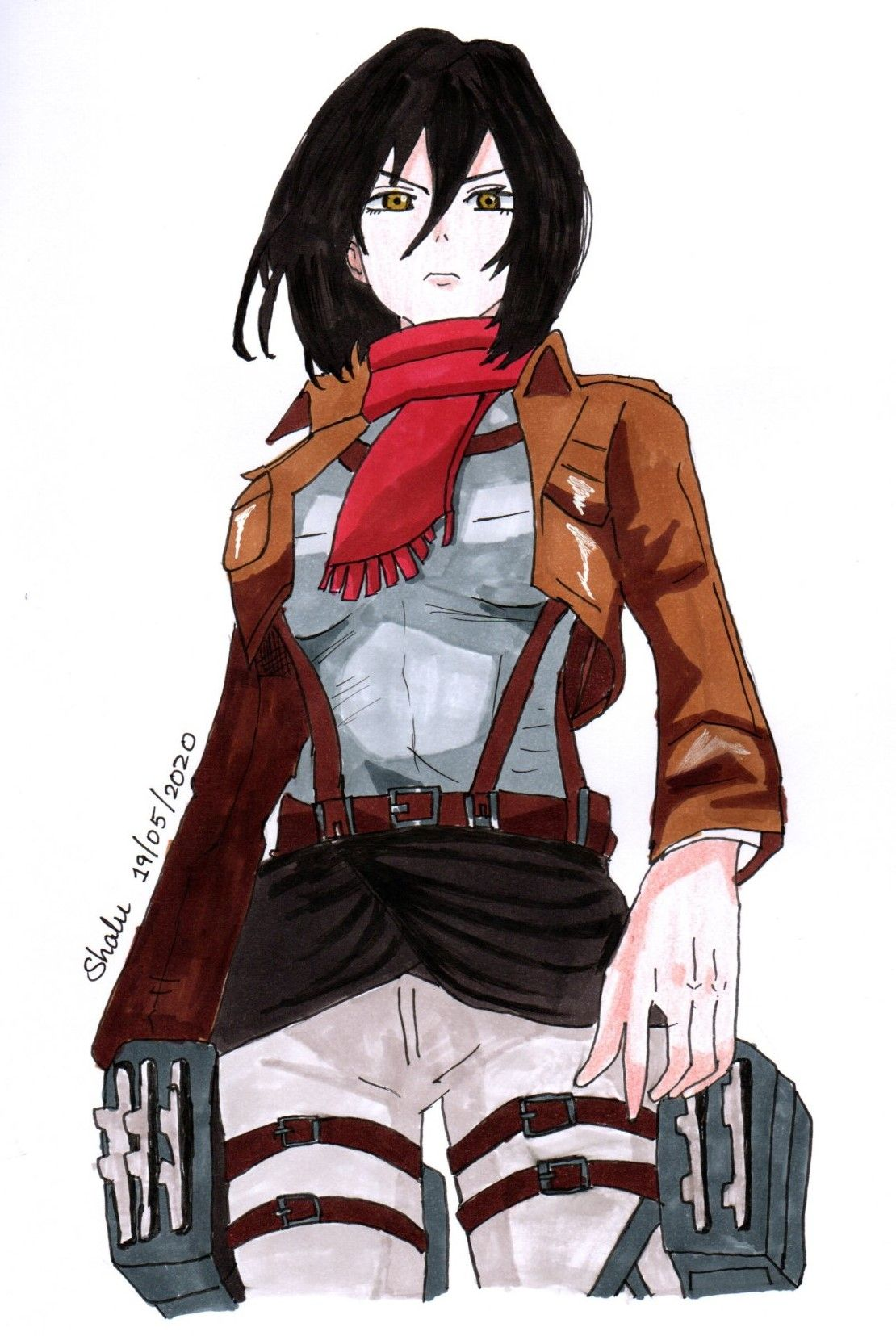 Mikasa Ackerman in 2020 Anime, Drawings, Art