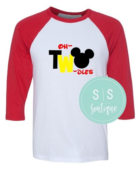 1999 Mickey Mouse Inspired 2nd Birthday Baseball Raglan Tee