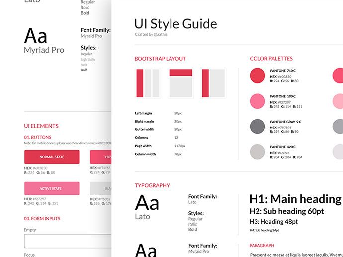 40 great examples of ui style guides guide pinterest style rh pinterest com Creating a Style Guide Creating a Style Guide