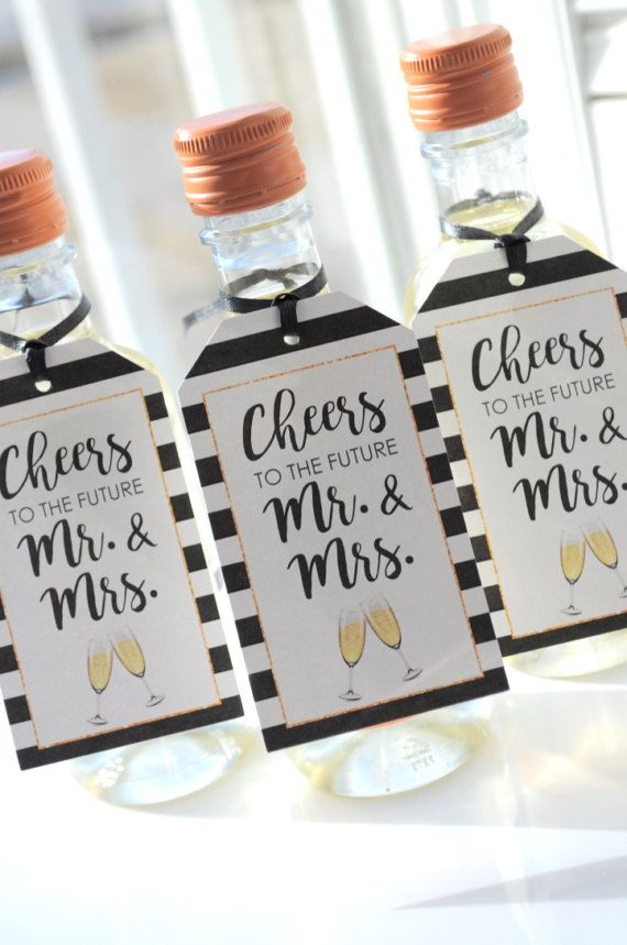 Wedding Favors Bridal Shower Favors Champagne Tags Mini Wine
