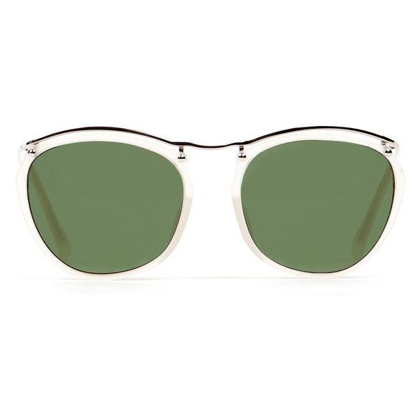 c2a917c15a Linda Farrow Dries Van Noten Thin Frame Sunglasses (€305) ❤ liked on  Polyvore