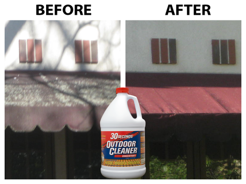 Clean Your Awnings With 30 Seconds Outdoor Cleaner Cleaning Cleaning Mold Outdoor Awnings
