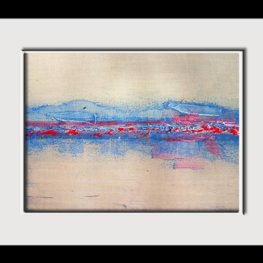 This Is A Little Painting On 9 X12 140lbs Watercolor Paper I Am Fascinated By Horizons So Even Though My Paintings Are Automatis Painting Abstract Art Art