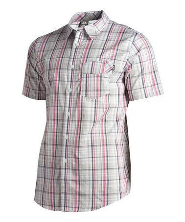 Another great find on #zulily! Crystal Gray Polynossic Bash Button-Up - Men #zulilyfinds