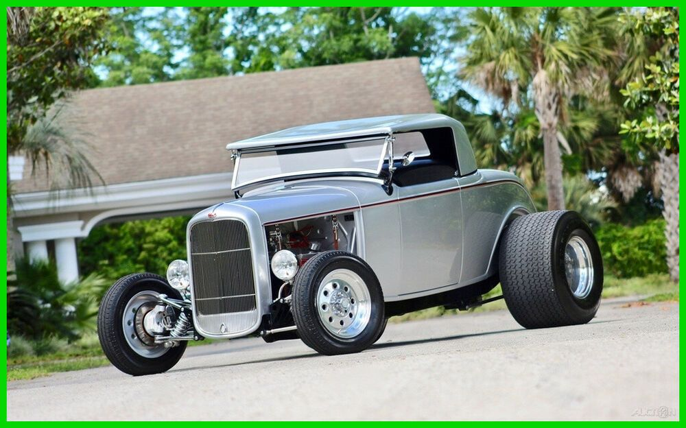 Ebay Advertisement 1932 Ford Deuce Highboy Roadster Independent Suspension Leather Interior 1932 Ford Deuce Highboy Roadster H Ford Roadsters Ford Roadster