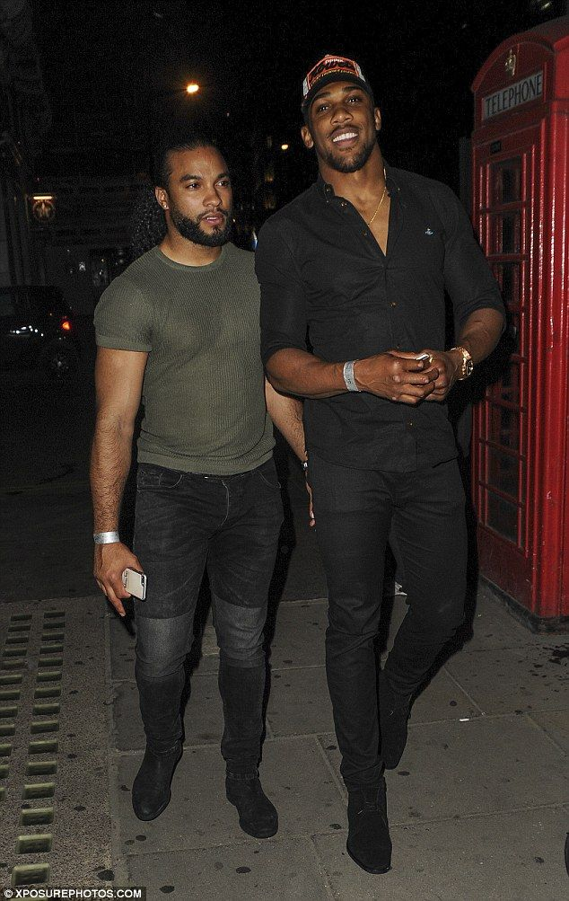 So you wanna be a boxer... Sportsman Anthony Joshua looked typically hunky for his night o...