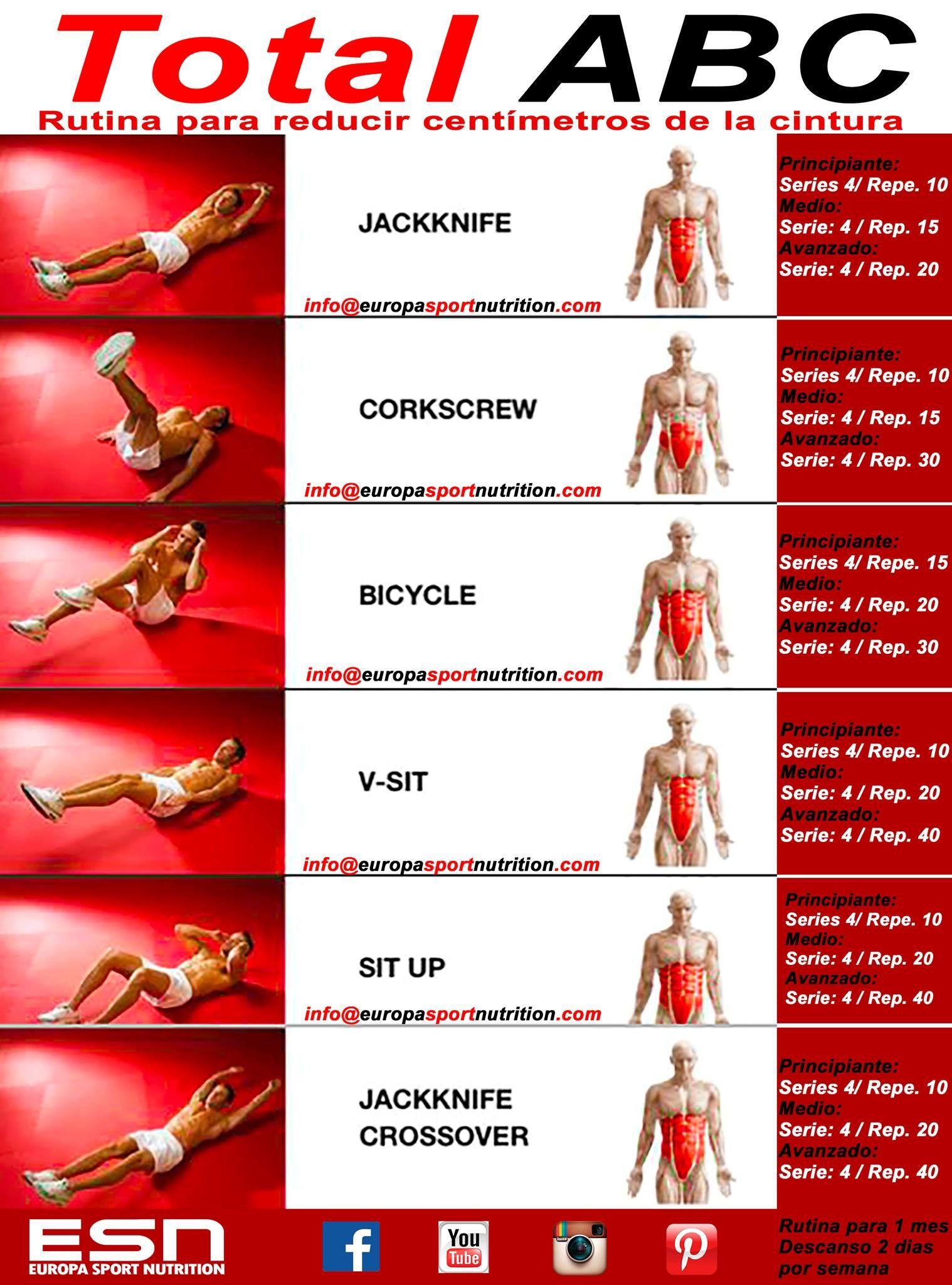 Empezamos el lunes marcando el abdomen y reduciendo for Gimnasio 30 minutos