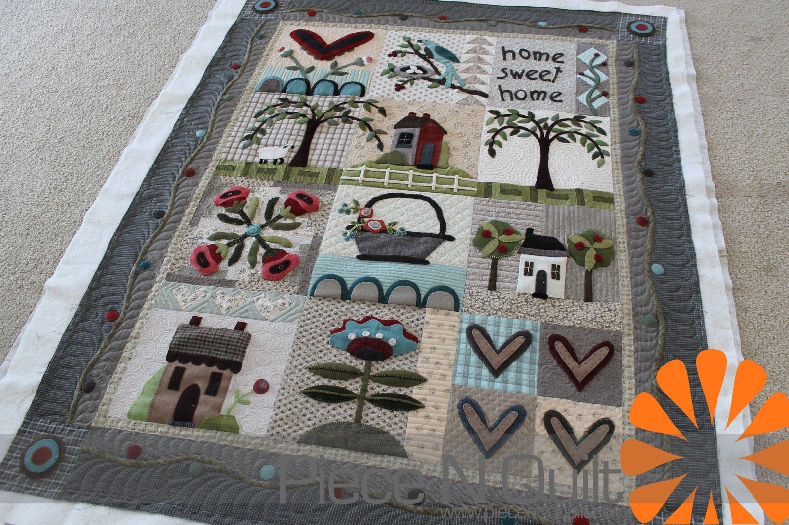 Wool quilt patterns free wool applique quilt as a block of