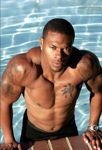 Hot black guys by the pool