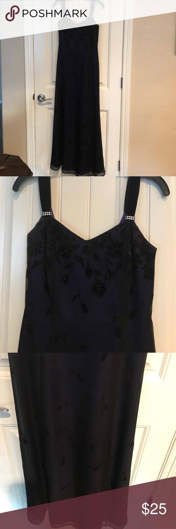 Prom dress purple dress black velvet and adam black