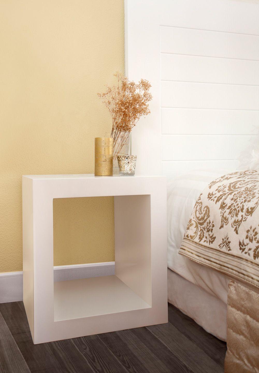 Mesilla de noche tokio minimalista pieza de madera lacada - Mesillas de noche de diseno ...