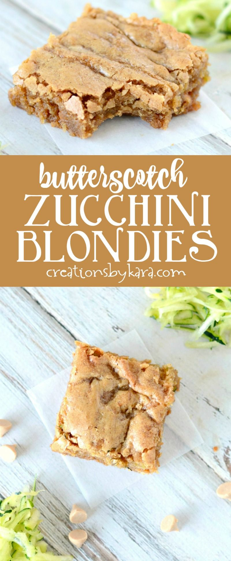 Photo of Recipe for rich and chewy butterscotch zucchini blondies. Sure to become a new f…