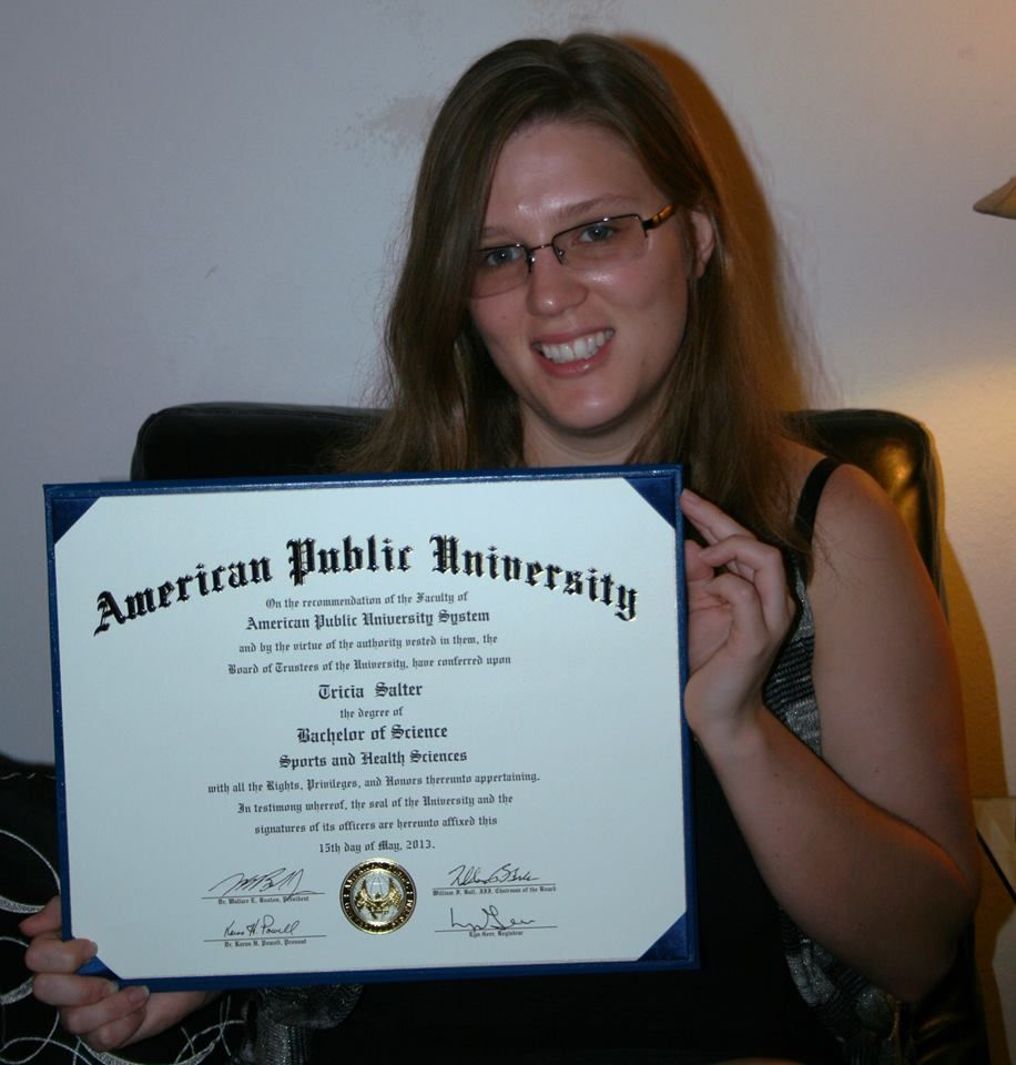 Tricia Salter earned her Bachelor of Science in Sports and