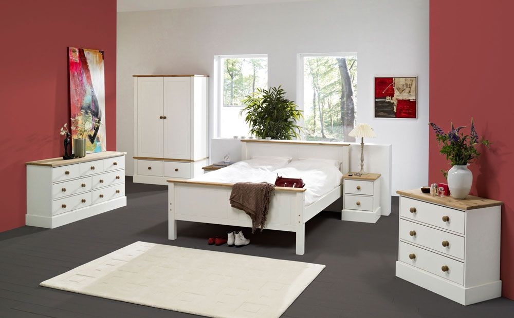The Balmoral White & Pine Bedroom Furniture at Furniture ...